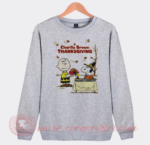 A Charlie Brown Thanksgiving Snoopy Sweatshirt