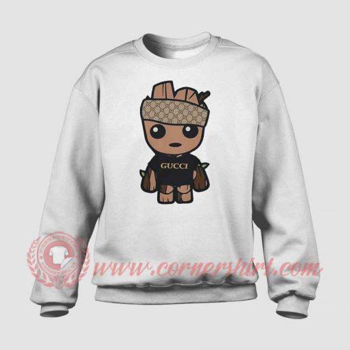 Baby Groot Monogram Custom Sweatshirt