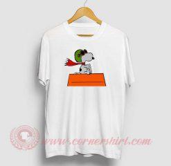 Flying Snoopy Custom Design T Shirt
