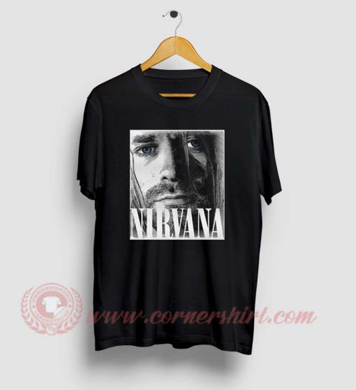 Kurt Cobain Nirvana Custom Design T Shirt