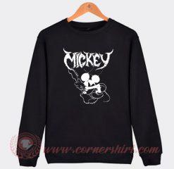 Mickey Mouse Band Rock Metal Sweatshirt