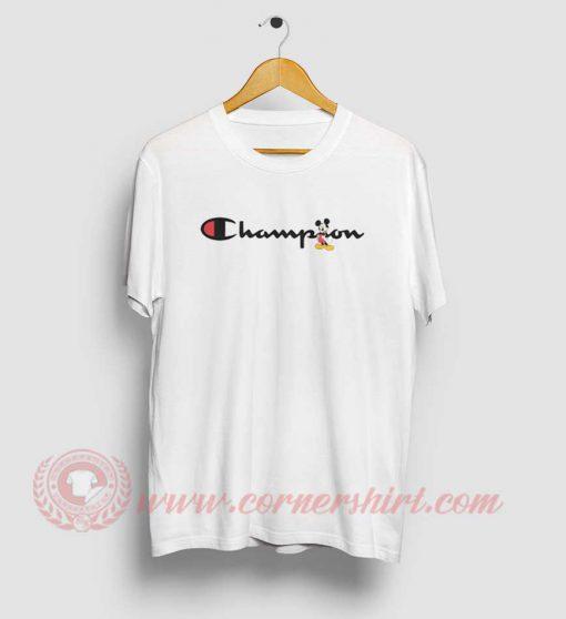 Mickey Mouse X Champion Parody T Shirt