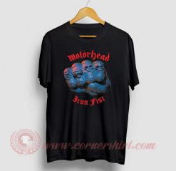 Motorhead Iron Fist Custom Design T Shirt