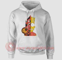 Simpson X Bape Custom Design Hoodie