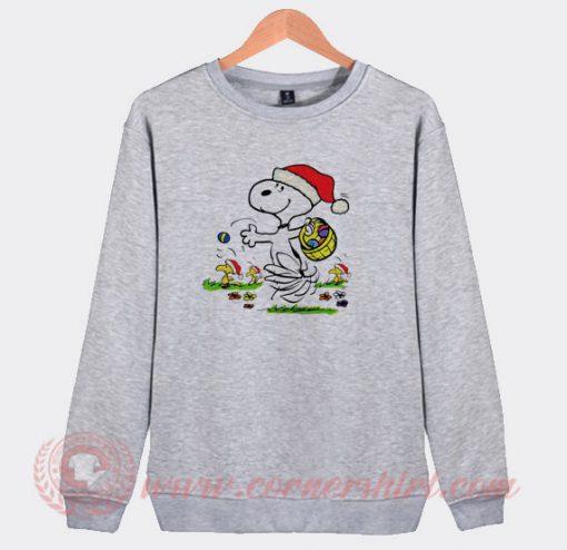 Snoopy And Little Woodstock Christmas Sweatshirt