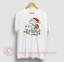 Snoopy And Little Woodstock Christmas T Shirt