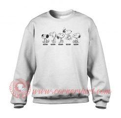Snoopy Beagle Evolution Custom Sweatshirt