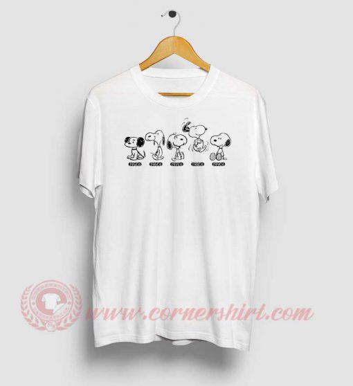 Snoopy Beagle Evolution Custom T Shirt