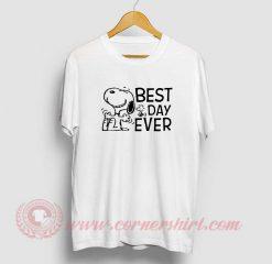 Snoopy Best Day Ever Custom Design T Shirt