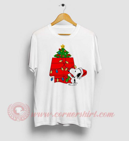 Snoopy Christmas Tree Custom Design T Shirt