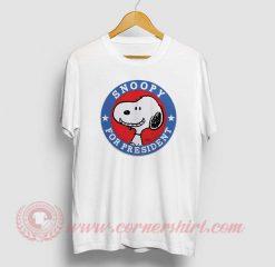 Snoopy For President Custom Design T Shirt