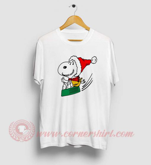 Snoopy Santa Clause Custom Design T Shirt