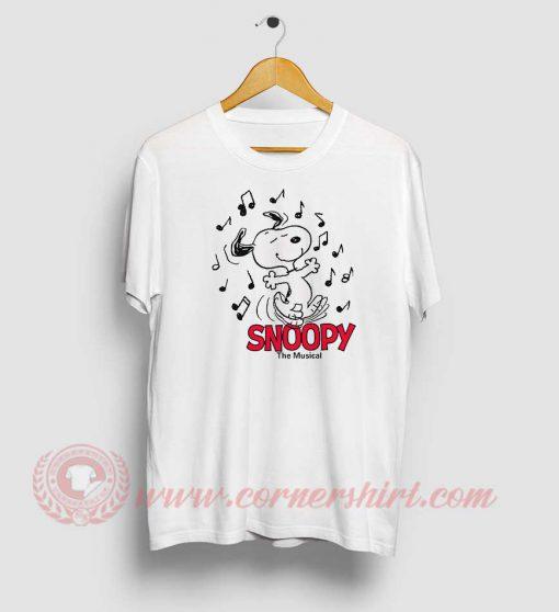 Snoopy The Beagle Musical Custom T Shirt