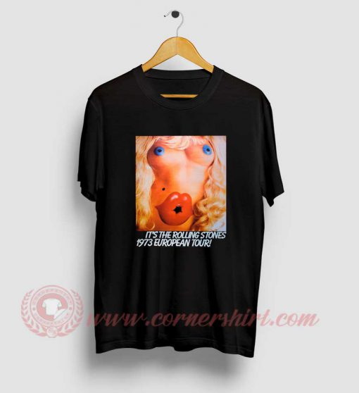 Rolling Stones 1973 European Tour T Shirt