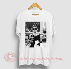 Audrey Hepburn Sunglasses Breakfast At Tiffany's T Shirt