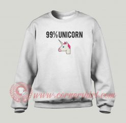 99% Unicorn Custom Sweatshirt
