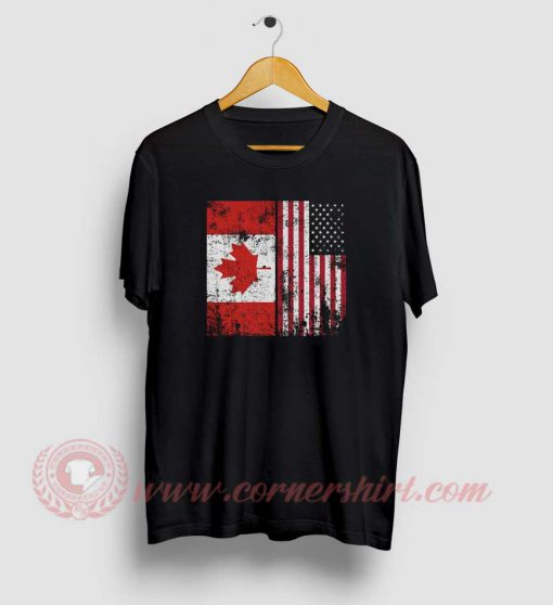 Canada America Custom Design T Shirts