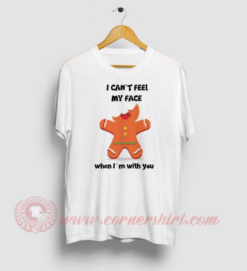 I Can't Feel My Face Christmas Custom T Shirt