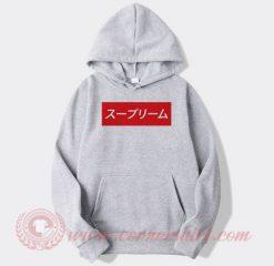 Supreme Kanji Fonts Custom Hoodie