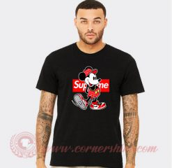 Supreme Minnie Mouse Custom Design T Shirts