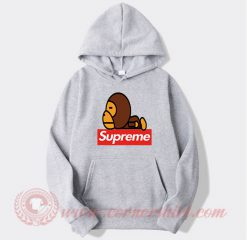 Supreme X Bape Work Custom Design Hoodie