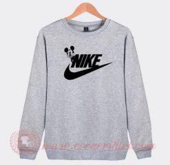 Mickey Mouse Nike Parody Custom Sweatshirt