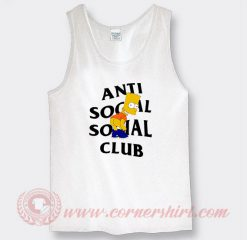 Bart Simpson X Anti Social Social Club Custom Tank Top