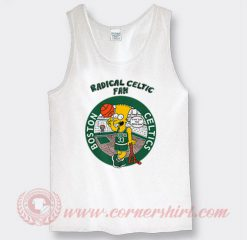 Bart Simpson Radical Celtics Custom Tank Top