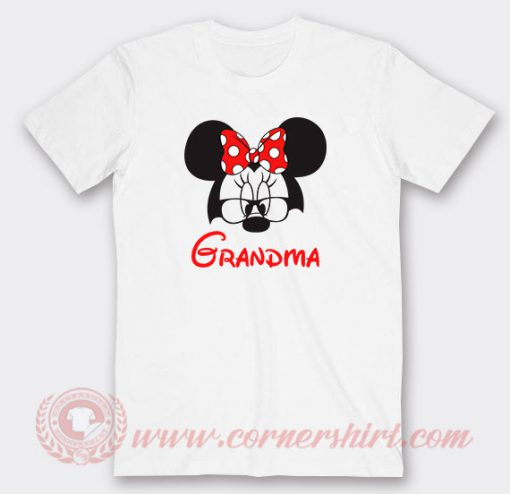 Disney Grandma Minnie Mouse Custom T Shirts