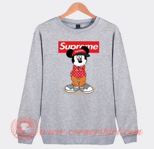 Hipster Mickey Mouse Supreme Custom Sweatshirt