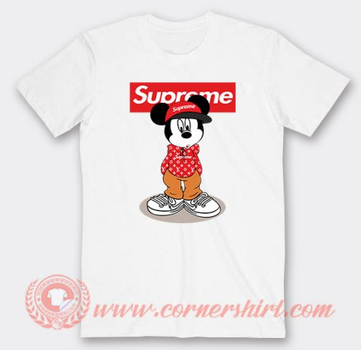 Hipster Mickey Mouse Supreme Custom T-Shirts