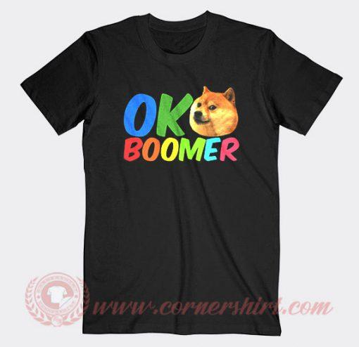 Ok Boomer Shiba Inu Dog Custom T Shirts