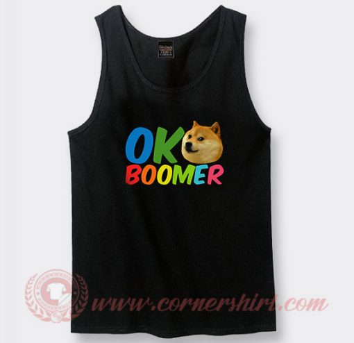 Ok Boomer Shiba Inu Dog Custom Tank Top
