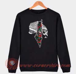 Rashida Tlaib Palestine Shemagh Maps Custom Sweatshirt