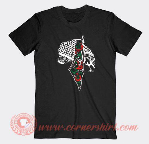 Rashida Tlaib Palestine Shemagh Maps Custom T-Shirts