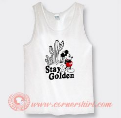 Stay Golden Mickey Mouse Custom Tank Top