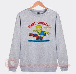 Vintage 1990 Bart Simpson Custom Sweatshirt