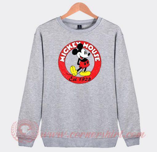 Vintage Mickey Mouse Est 1928 Custom Sweatshirt