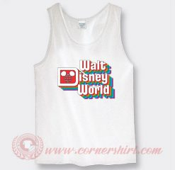 Vintage Walt Disney Logo Custom Tank Top