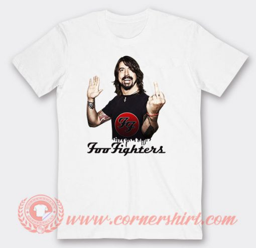 Dave Grohl Foo Fighter Fuck Finger T-Shirts