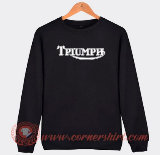 Triumph Motorcycle Custom Sweatshirt