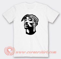 Tupac Sakur Face T-Shirts
