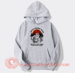White Sloth Hiking Team Hoodie On Sale
