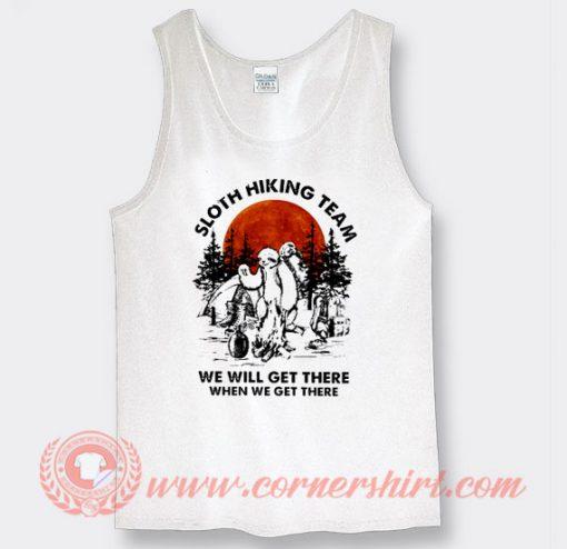 White Sloth Hiking Team Tank Top On Sale