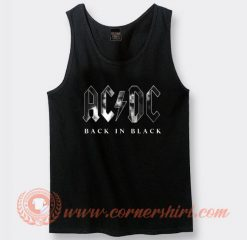 Acdc Back In Black Album Tank Top