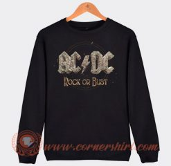 Acdc Rock Or Bust Album Sweatshirt