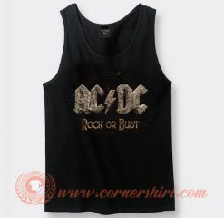 Acdc Rock Or Bust Album Tank Top