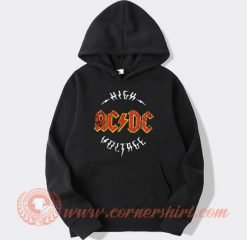 Vintage Logo Acdc High Voltage Album Hoodie