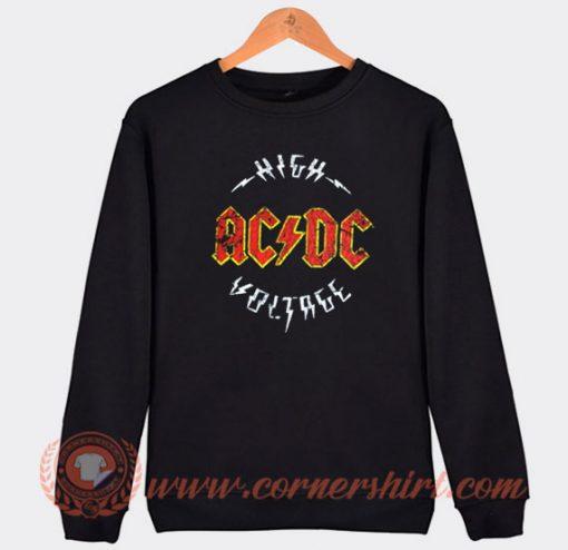 Vintage Logo Acdc High Voltage Album Sweatshirt