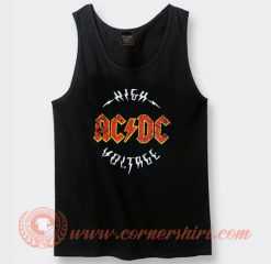 Vintage Logo Acdc High Voltage Album Tank Top